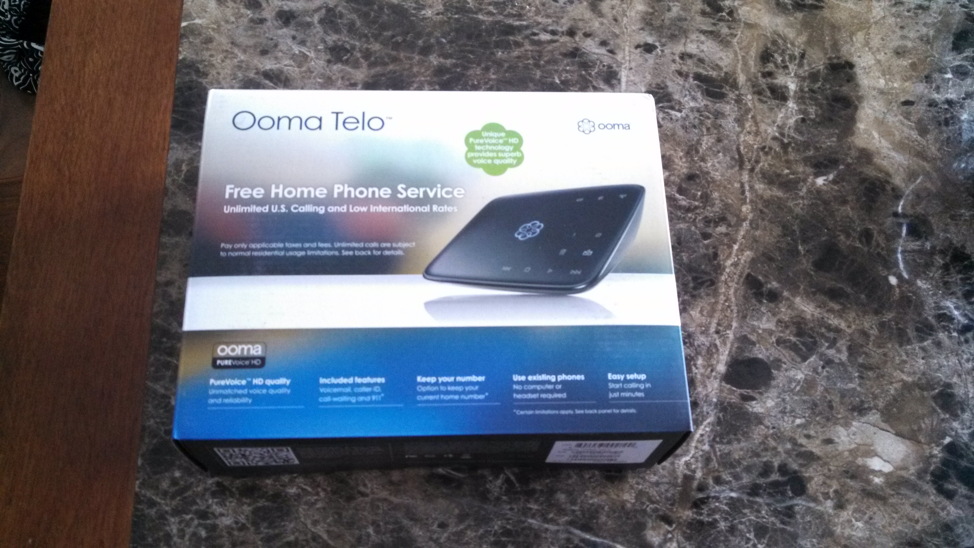 New Ooma Telo Voip Internet Voice Home Phone Service Box